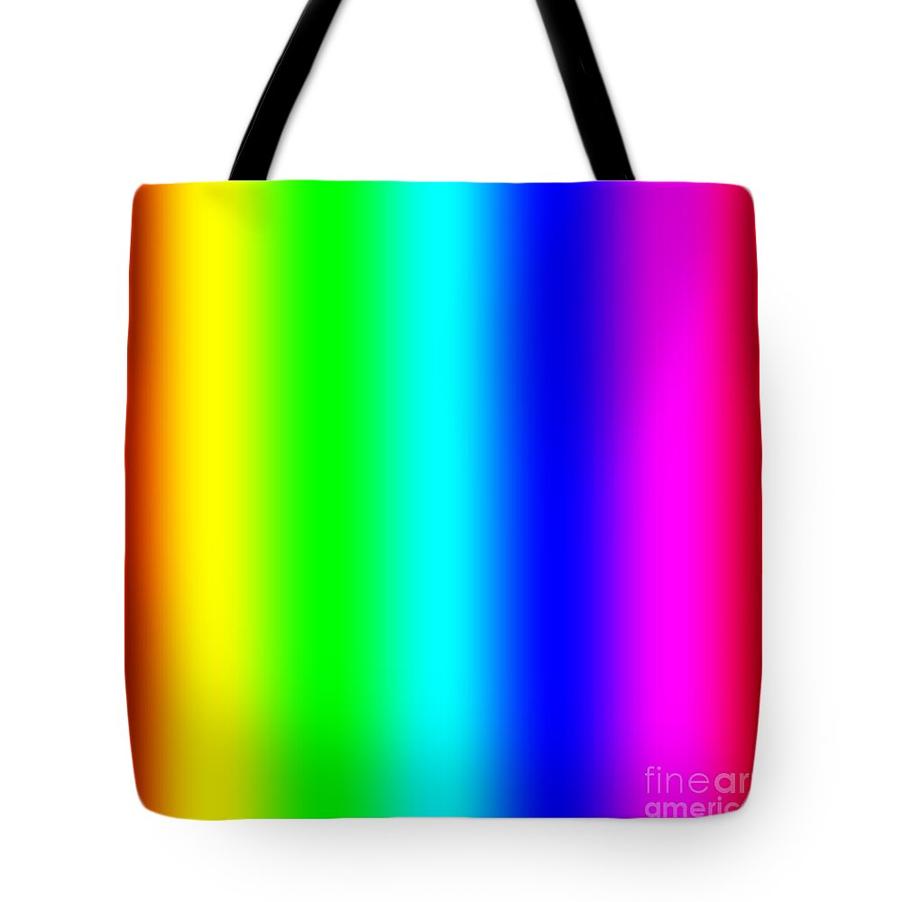 Abstract Tote Bag featuring the digital art Rainbow by Miroslav Nemecek
