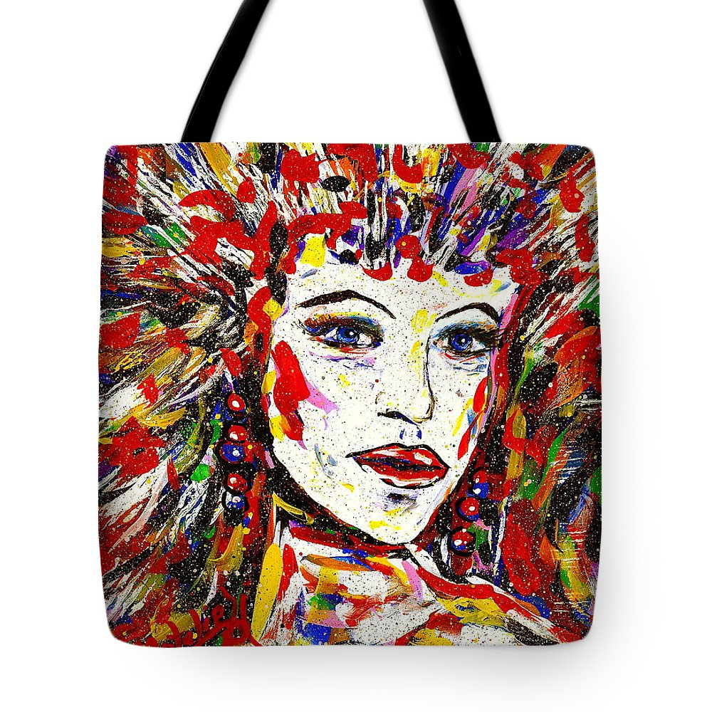 Abstract Art Tote Bag featuring the painting Rainbow by Natalie Holland