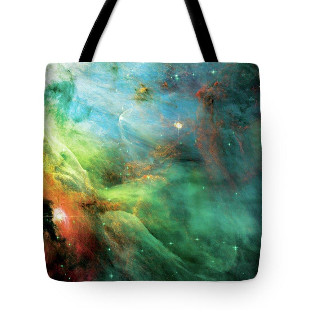 Nebula Tote Bag featuring the photograph Rainbow Orion Nebula by Jennifer Rondinelli Reilly - Fine Art Photography