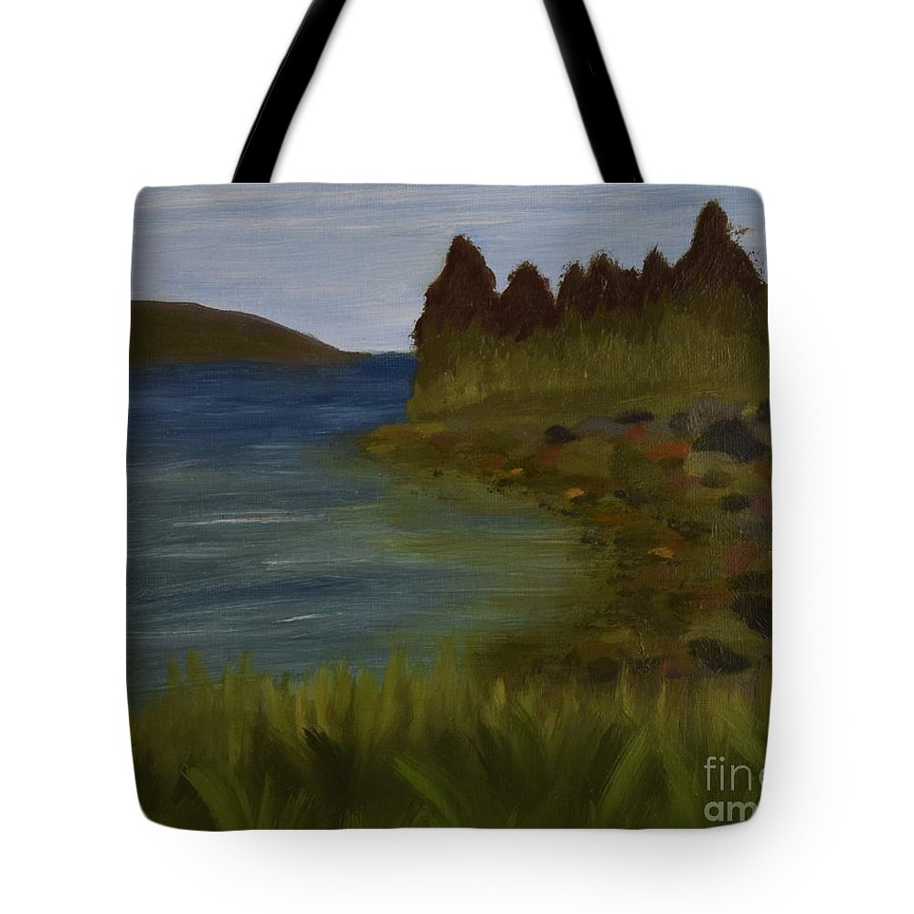 Tote Bag featuring the painting Rainbows On Cloudy Day by Barrie Stark