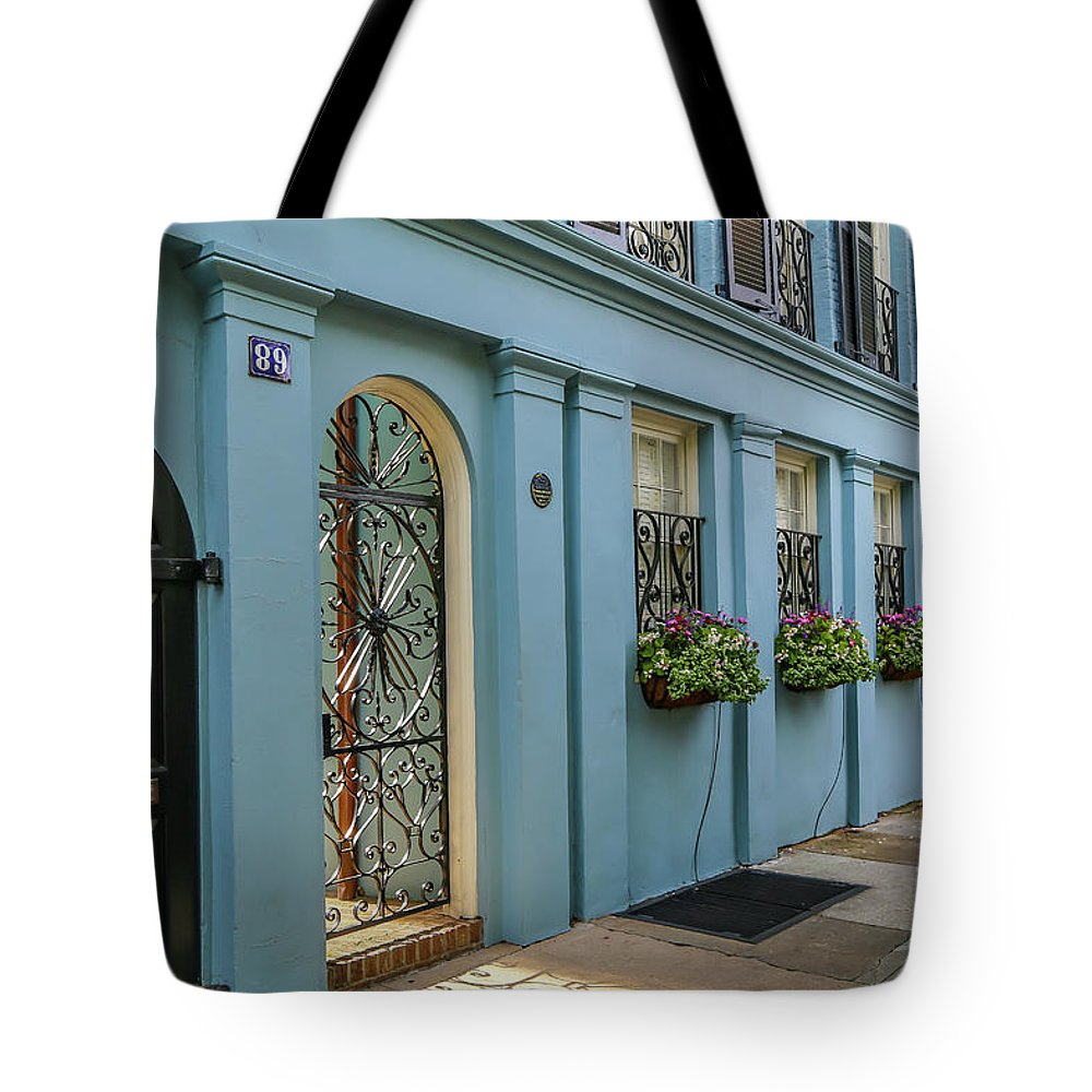 Pastels Tote Bag featuring the photograph Rainbow Row by Kevin Craft
