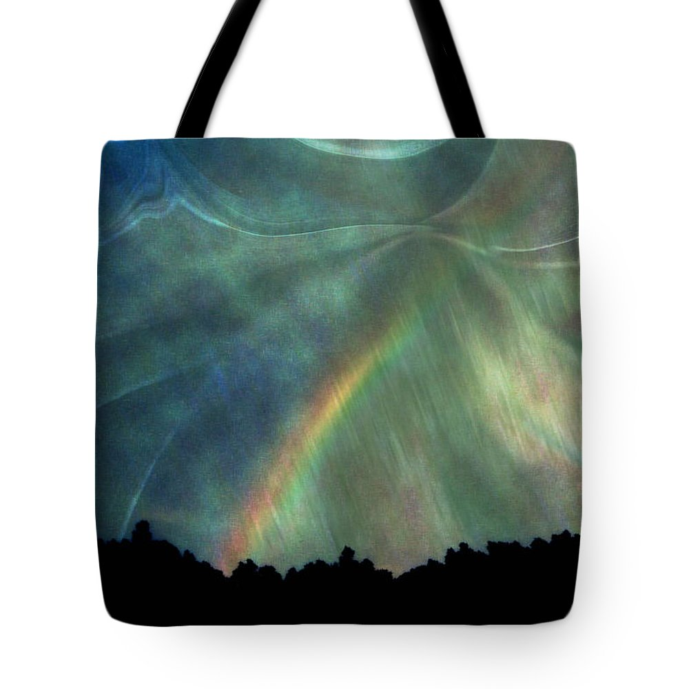 Nature Tote Bag featuring the photograph Rainbow Showers by Linda Sannuti