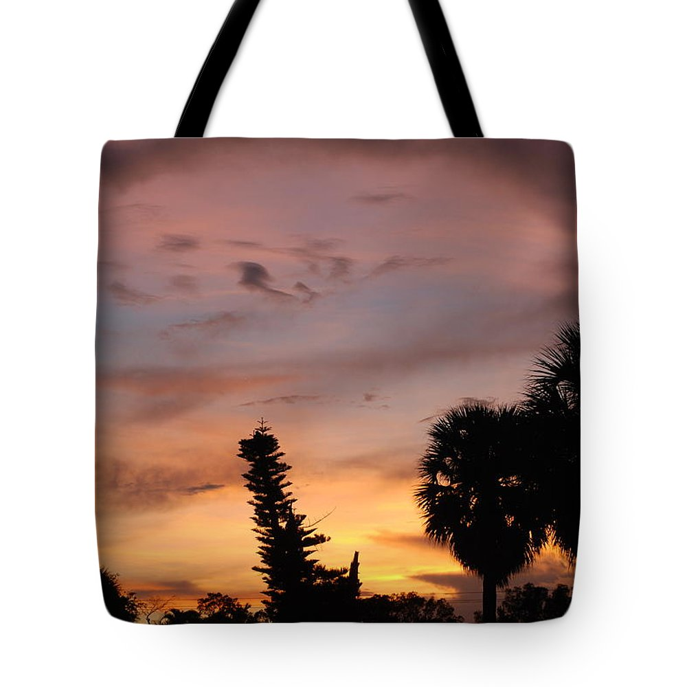 Sunset Tote Bag featuring the photograph Rainbow Sunset by Rob Hans