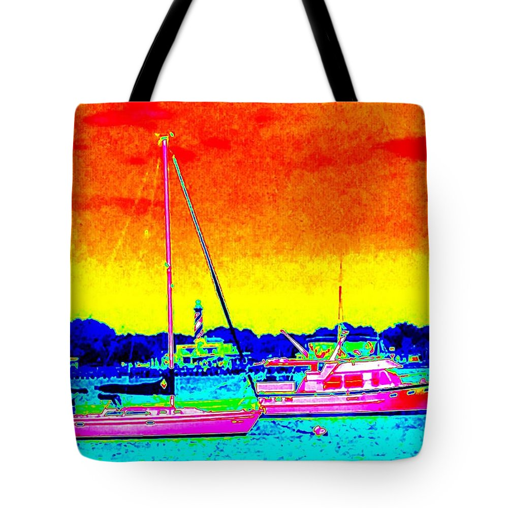 Sailboat Tote Bag featuring the photograph Rainbow Tide by Joseph Desiderio