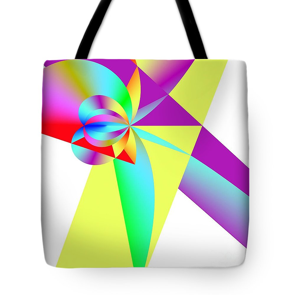 Rainbow Wedding Gift Tote Bag featuring the digital art Rainbow Wedding Gift by Michael Skinner