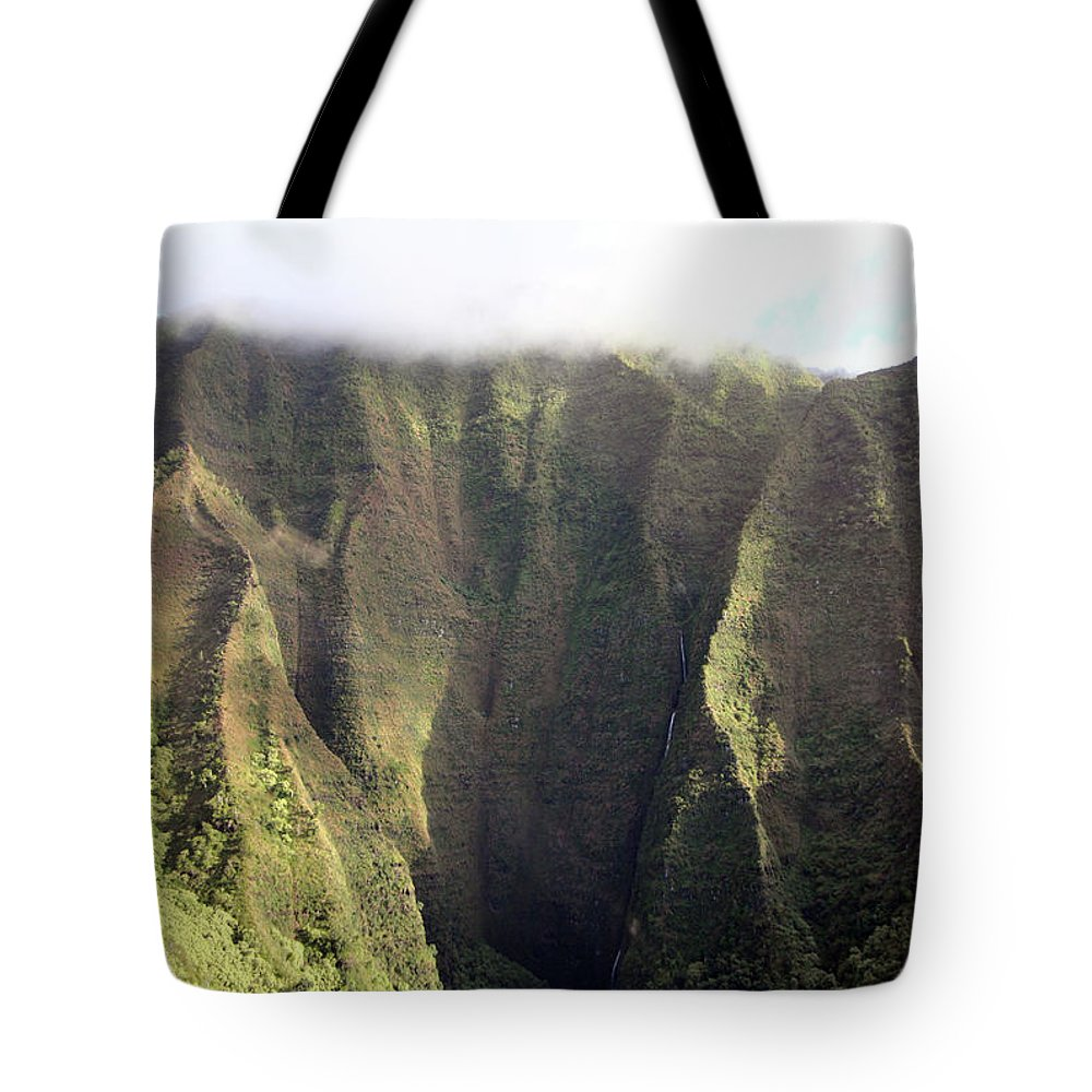 Mountains Tote Bag featuring the photograph Rainforest Aerial View by Mary Haber