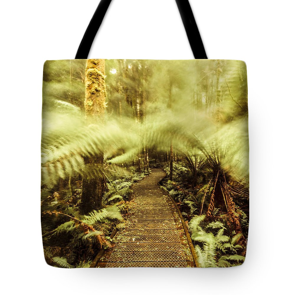 Blurred Tote Bag featuring the photograph Rainforest Walk by Jorgo Photography - Wall Art Gallery