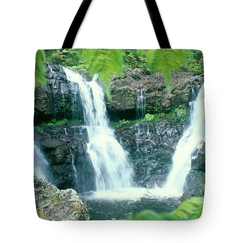 Big Tote Bag featuring the photograph Rainforest Waterfalls by Peter French - Printscapes