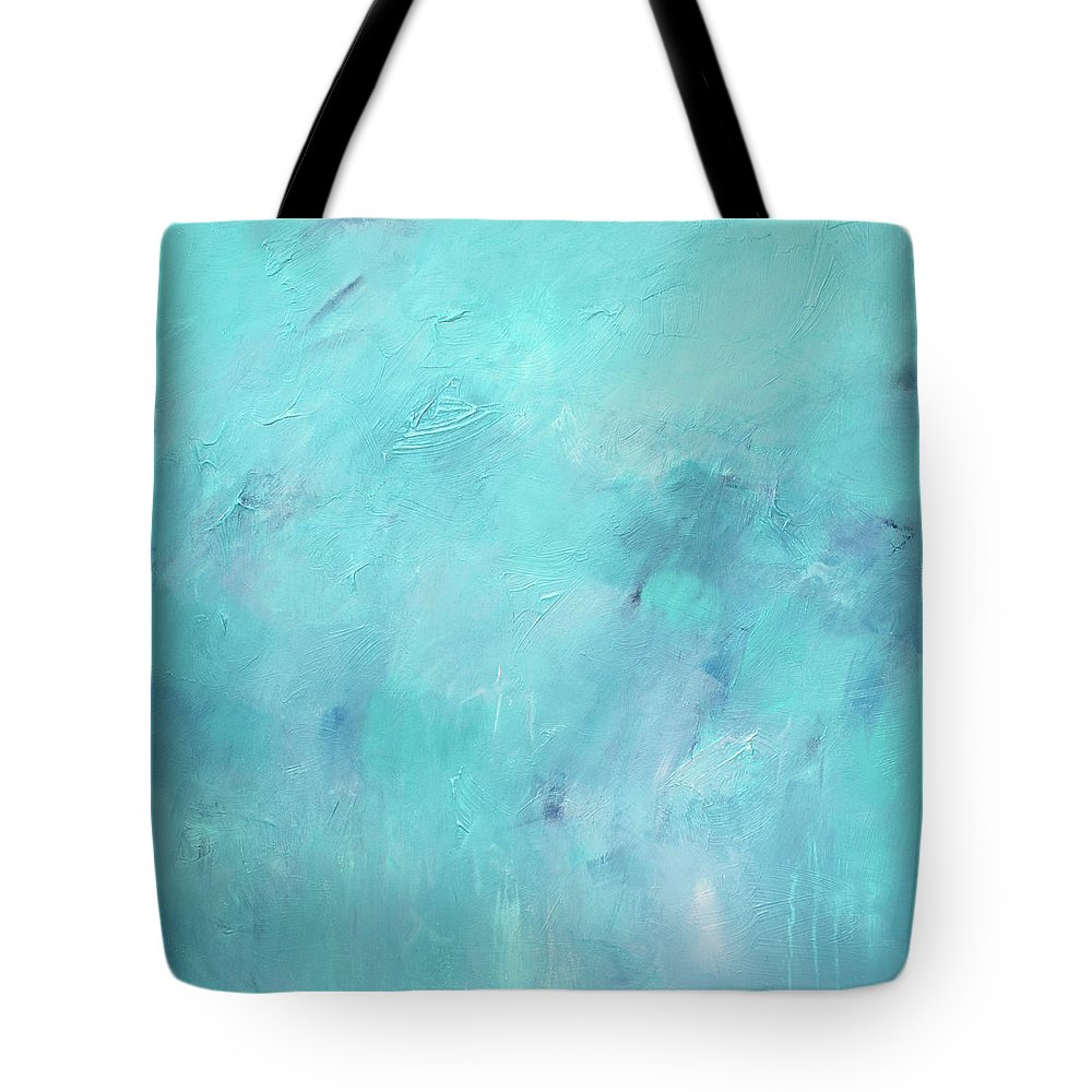 Abstract Tote Bag featuring the painting Rainy Day by Filomena Booth