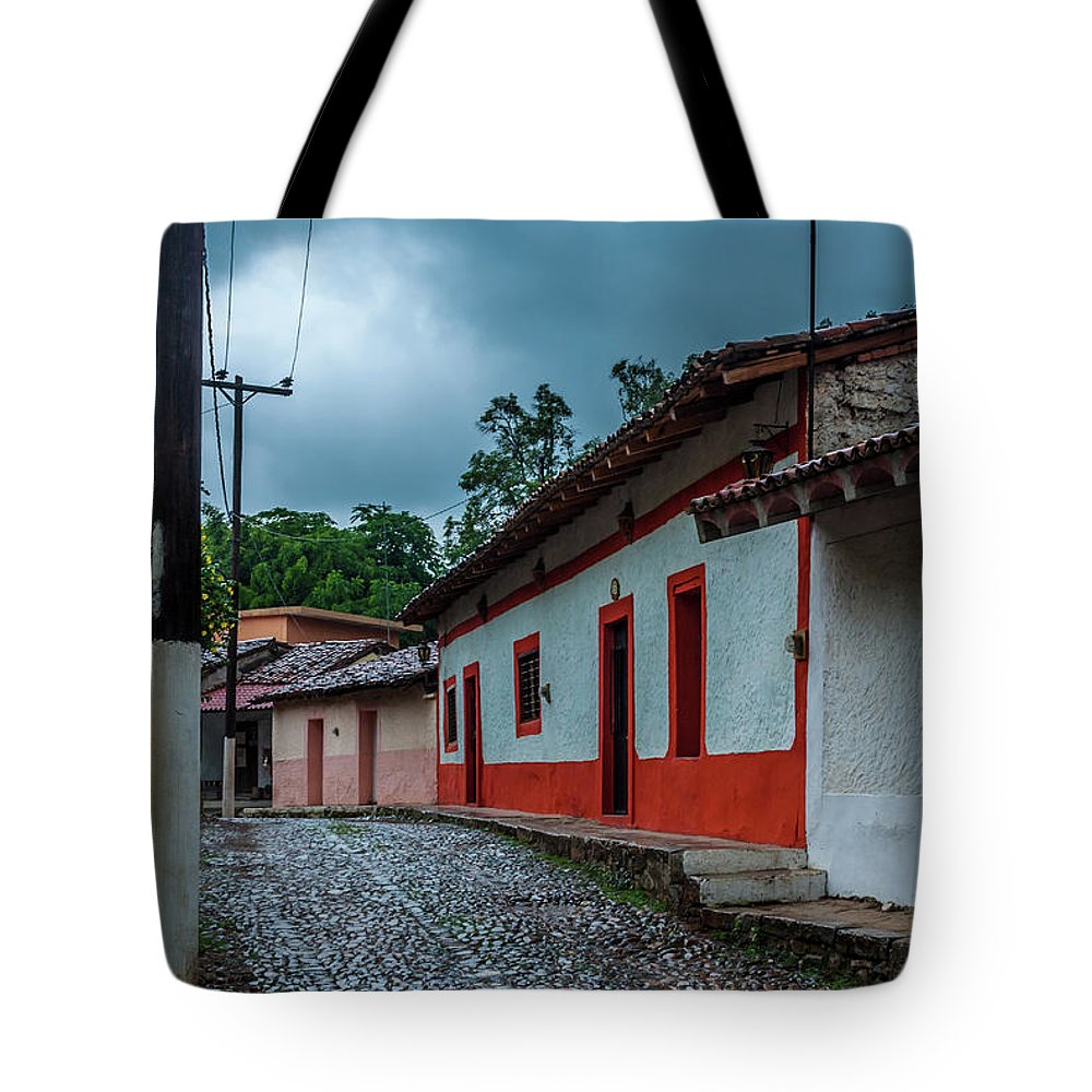 Landscape Tote Bag featuring the photograph Rainy Day In Copala by Javier Flores