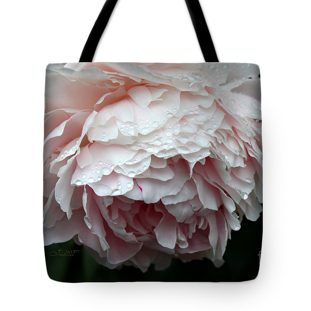 Peony Tote Bag featuring the photograph Rainy Day by Jutta Maria Pusl
