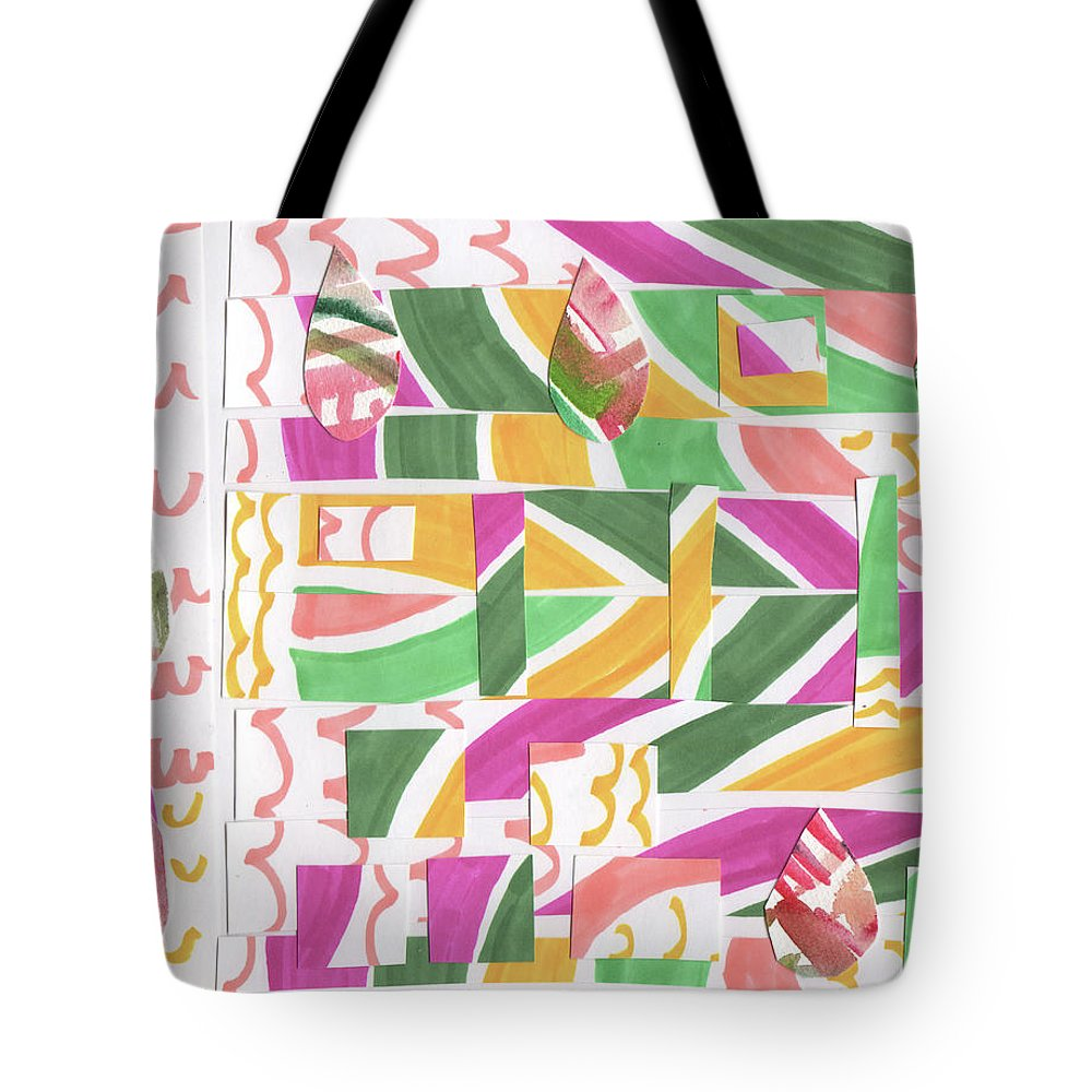 Baby New Year Mixed Media Tote Bags