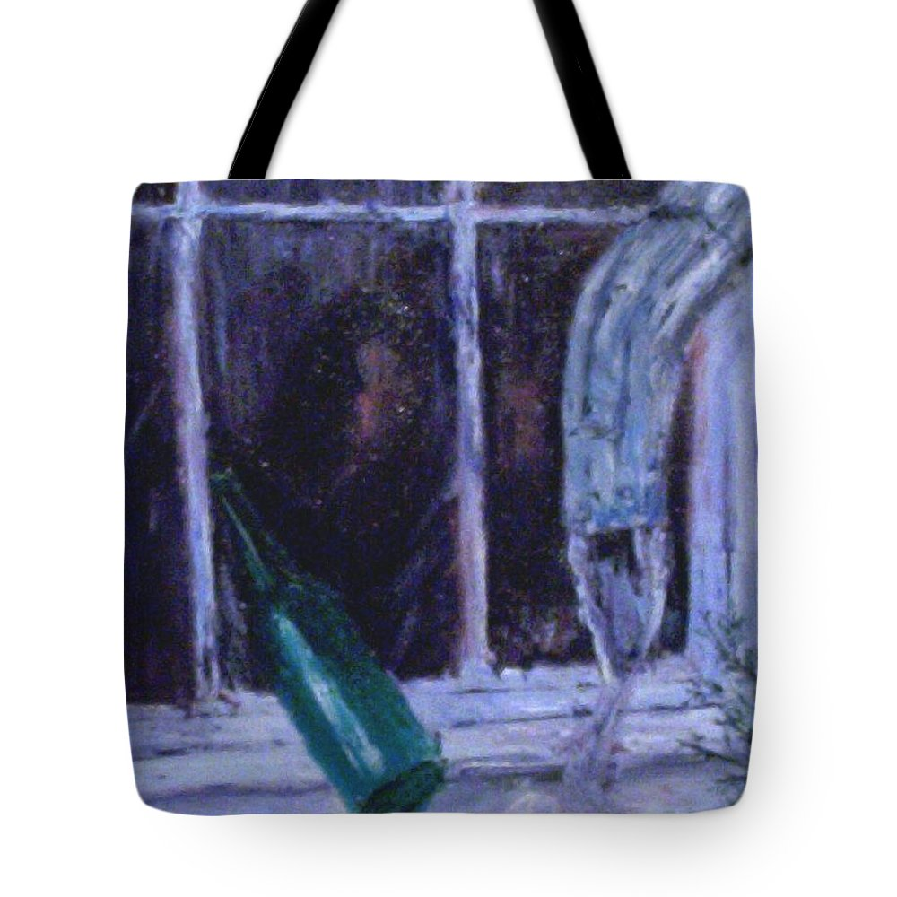 Original Tote Bag featuring the painting Rainy Day by Stephen King