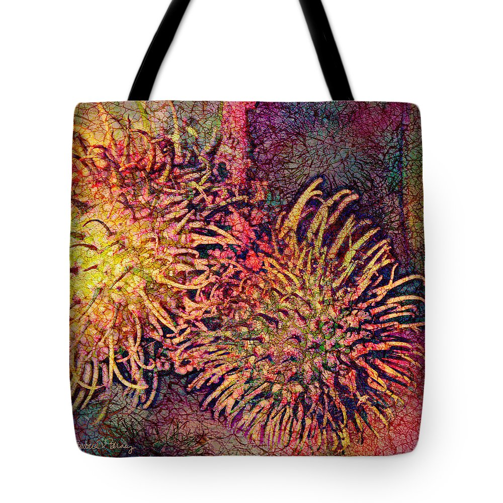 Rambutan Tote Bag featuring the digital art Rambutan by Barbara Berney