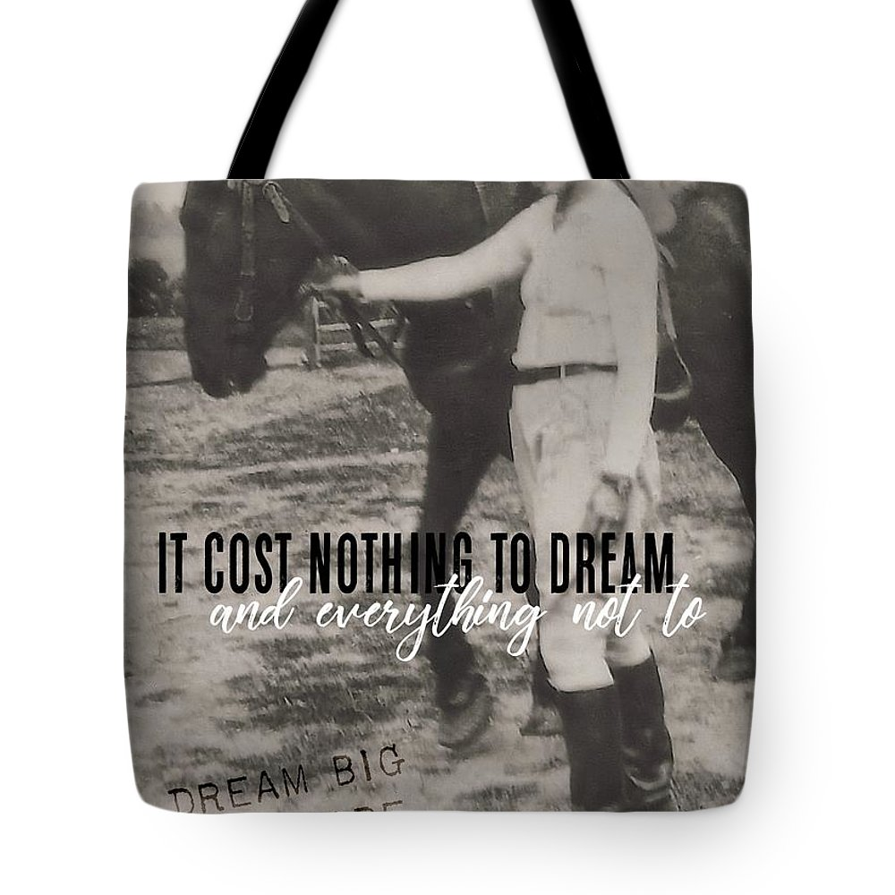 Horse Tote Bag featuring the photograph Random Moment Quote by JAMART Photography