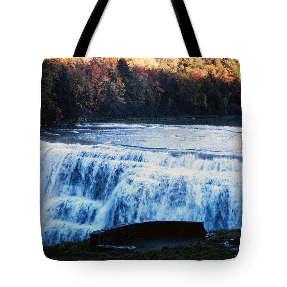 Rapids Tote Bag featuring the photograph Rapidfalls by Delbert Larkin