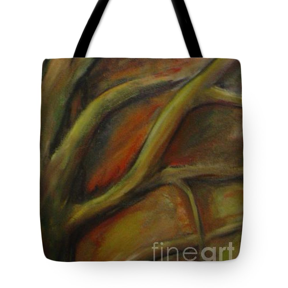 Tree Abstract Painting Expressionist Original Leila Atkinson Tote Bag featuring the painting Rapt by Leila Atkinson