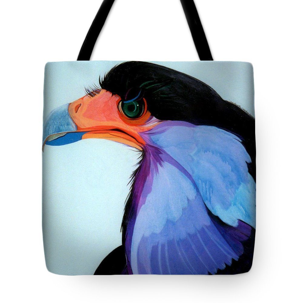 Raptor Tote Bag featuring the painting Raptor 5 by Marlene Burns