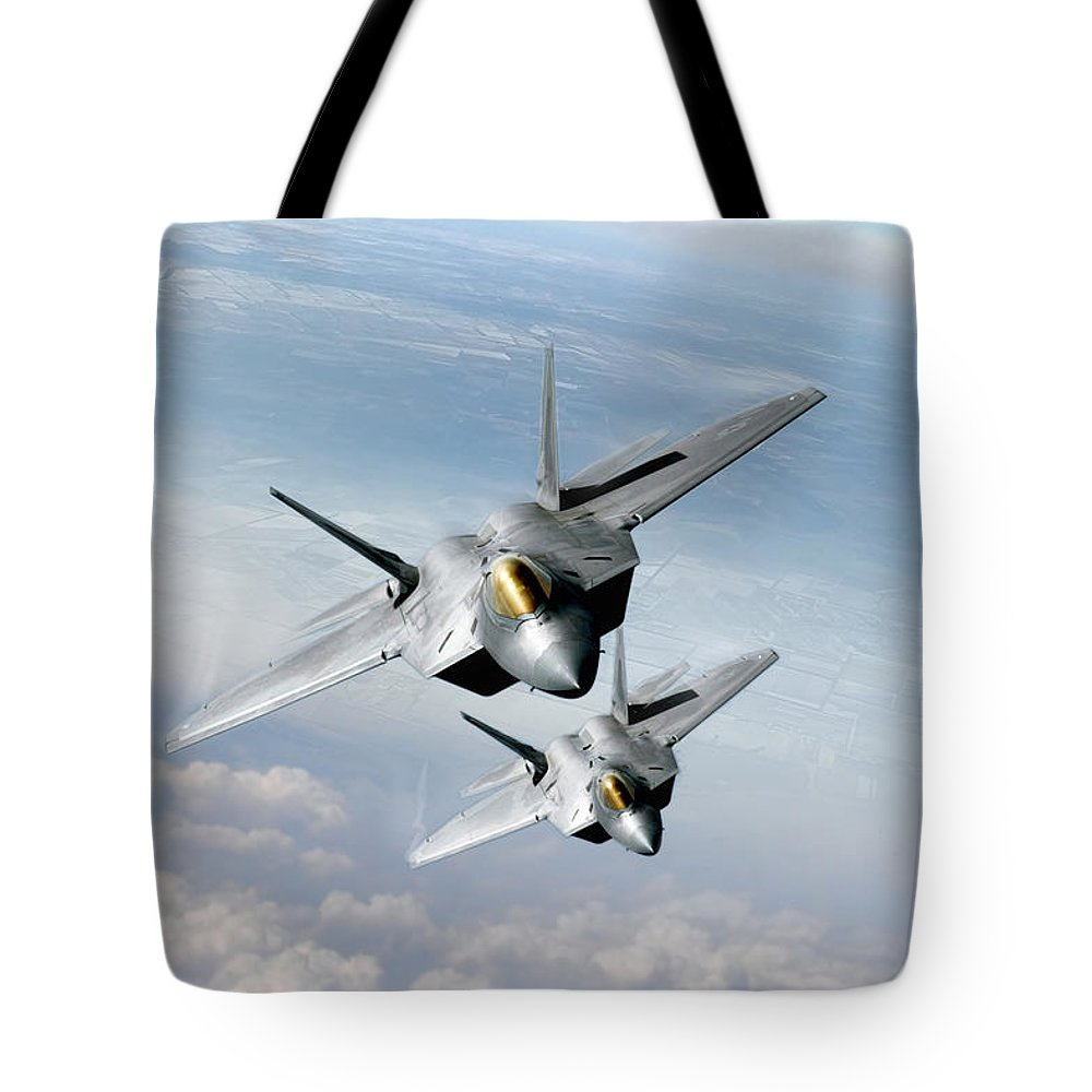 F-22 Tote Bags