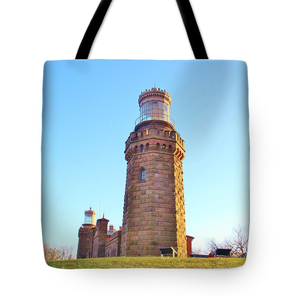 Atlantic Ocean Tote Bag featuring the photograph Rapunzels Tower by Karen Silvestri