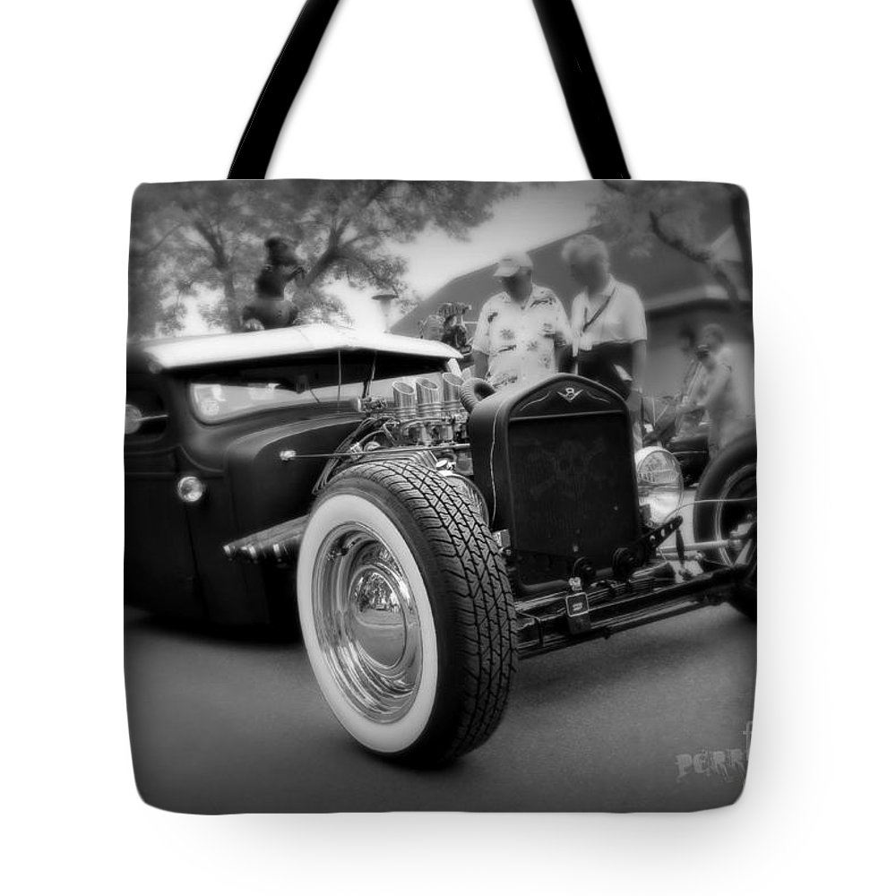 Rat Rod Tote Bag featuring the photograph Rat Rod Looker by Perry Webster