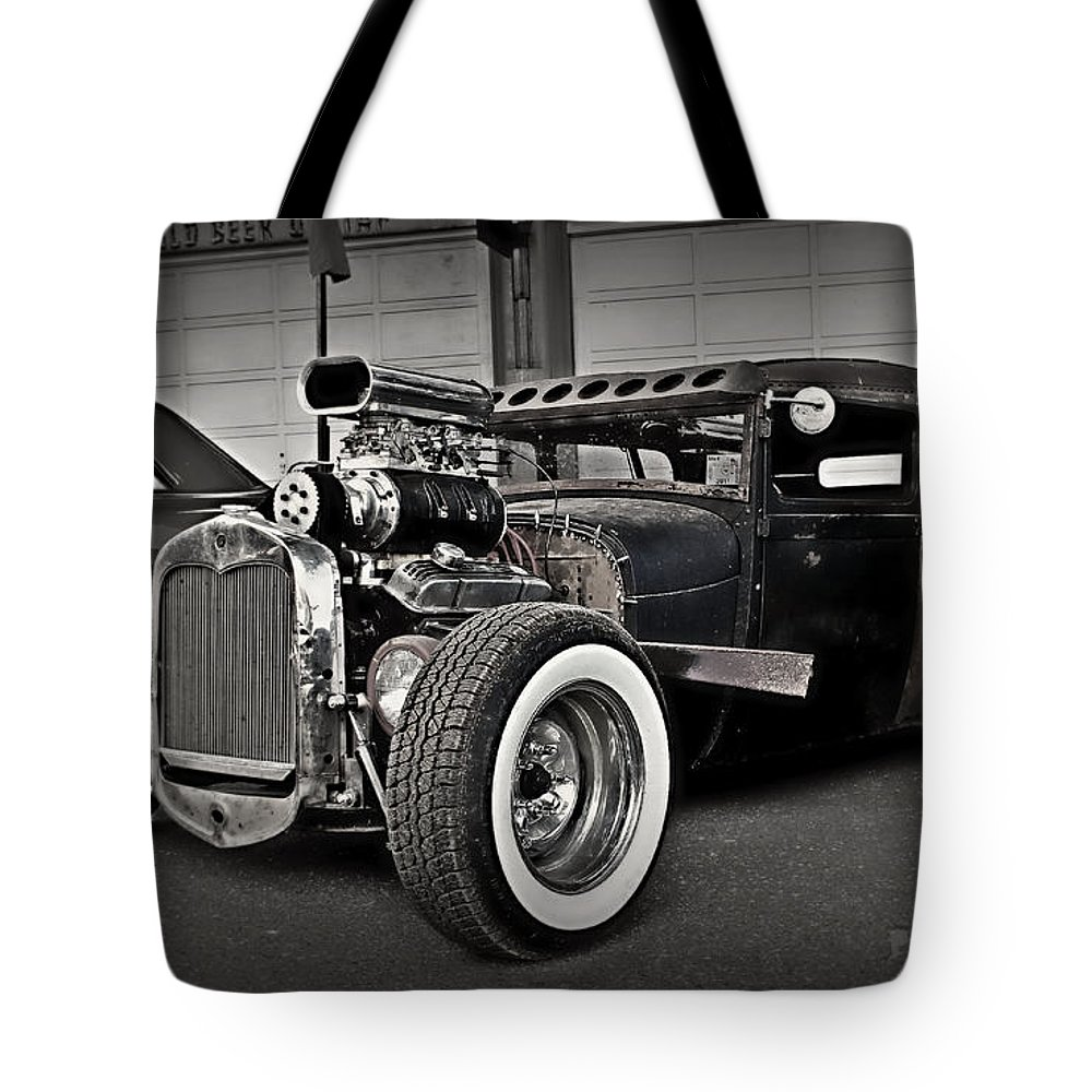 Rat Rod Tote Bag featuring the photograph Rat Rod Scene 3 by Perry Webster