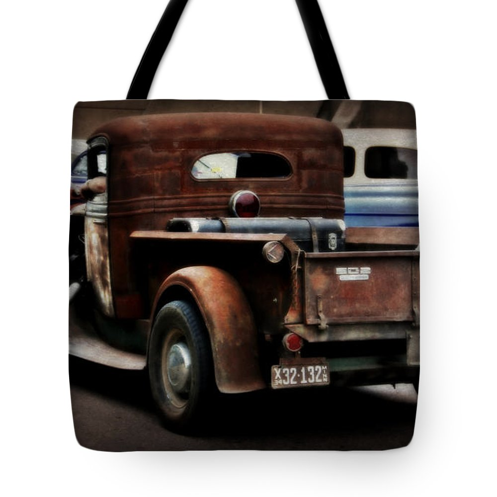 Rat Rod Tote Bag featuring the photograph Rat Rod Work Truck by Perry Webster