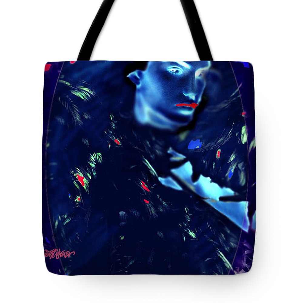 A Bizarre Evil Witch Flies With The Ravens Tote Bag featuring the digital art Raven Woman by Seth Weaver