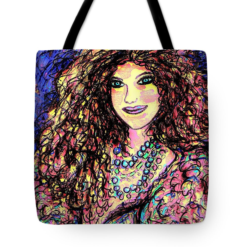 Woman Tote Bag featuring the painting Ravishing Beauty by Natalie Holland