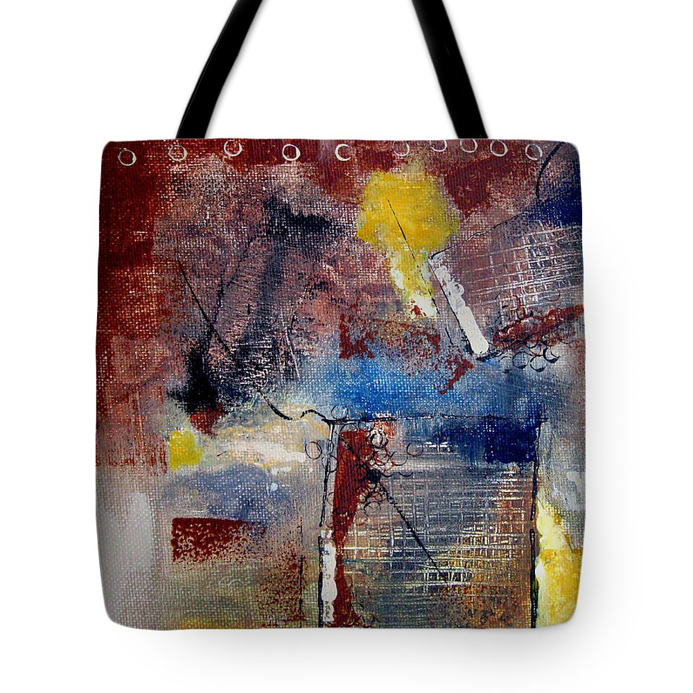 Abstract Tote Bag featuring the painting Raw Emotions II by Ruth Palmer