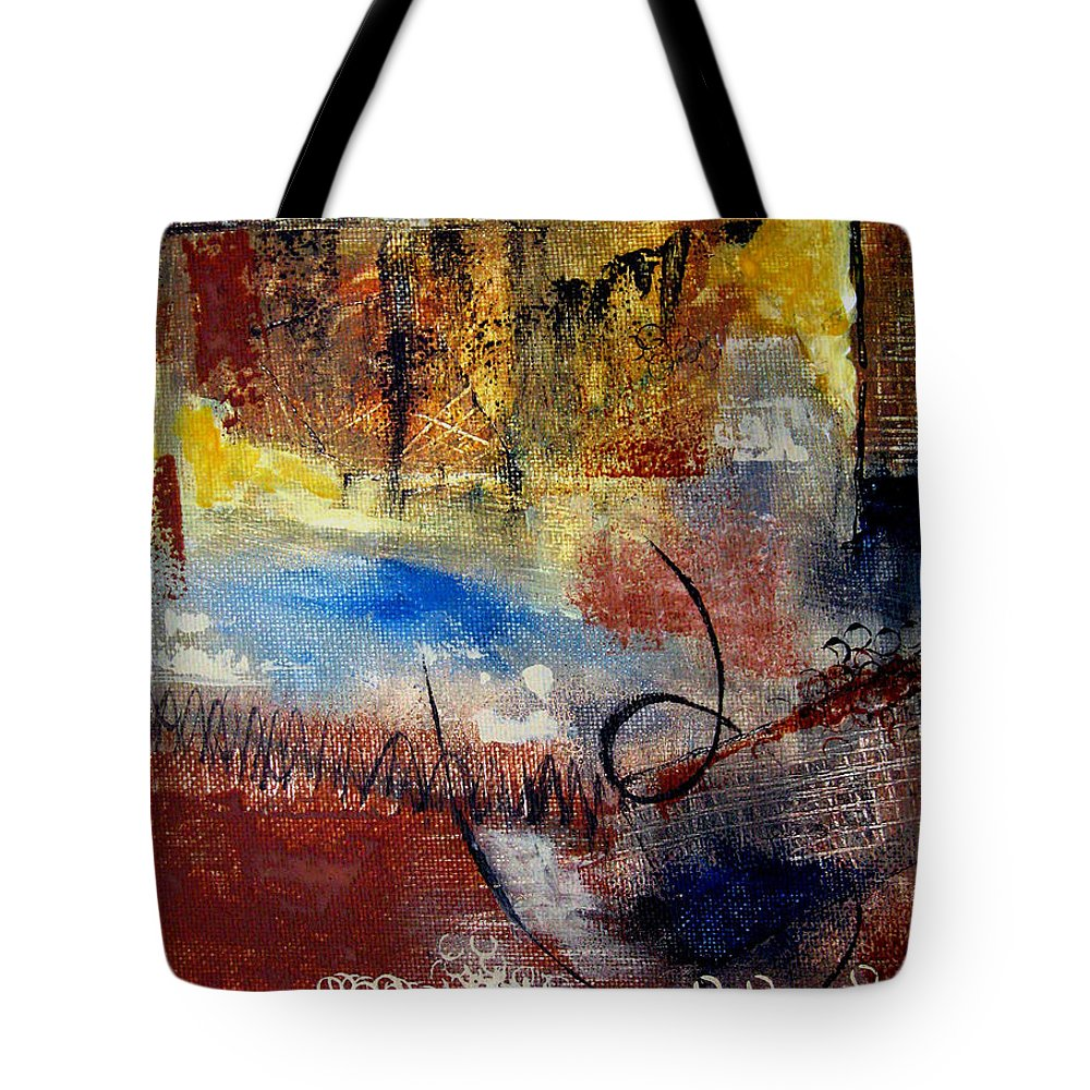 Abstract Tote Bag featuring the painting Raw Emotions by Ruth Palmer