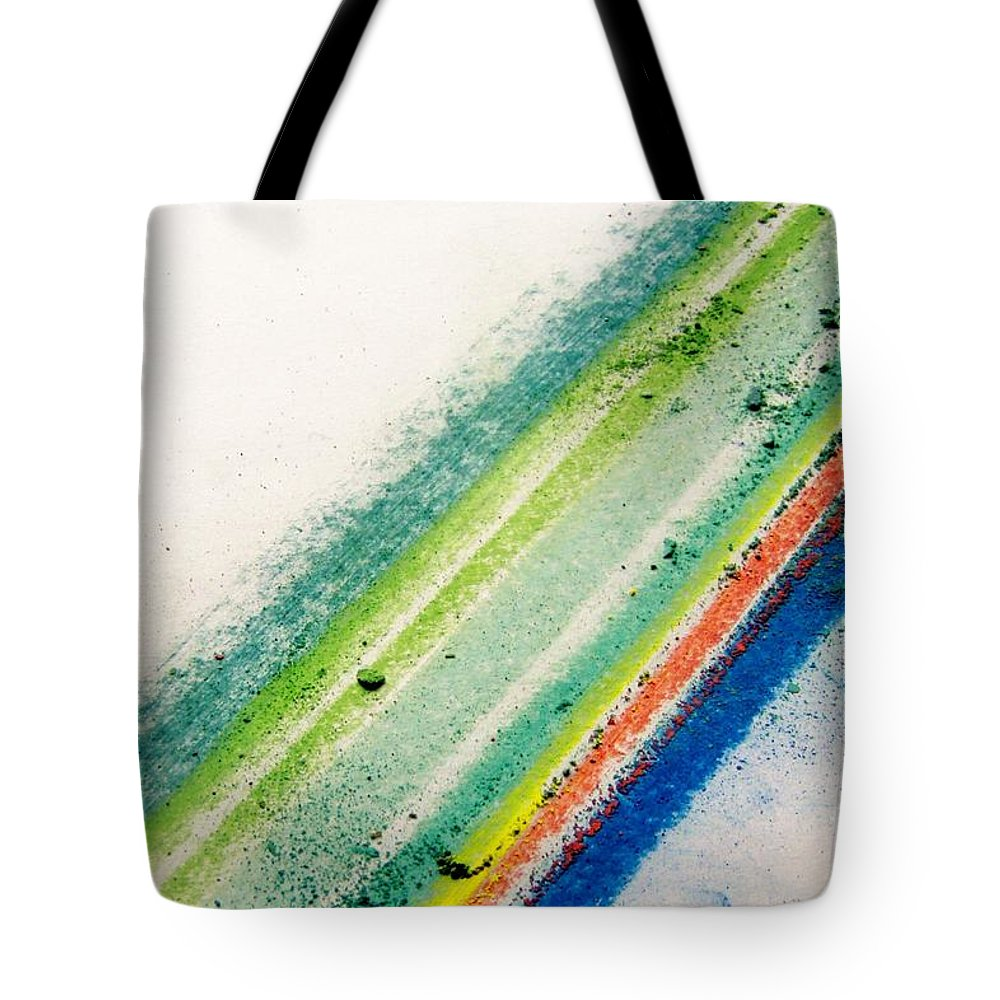 Life Energy Surf Rain Forest Brazil Tote Bag featuring the pastel Raw by Kristine Nora
