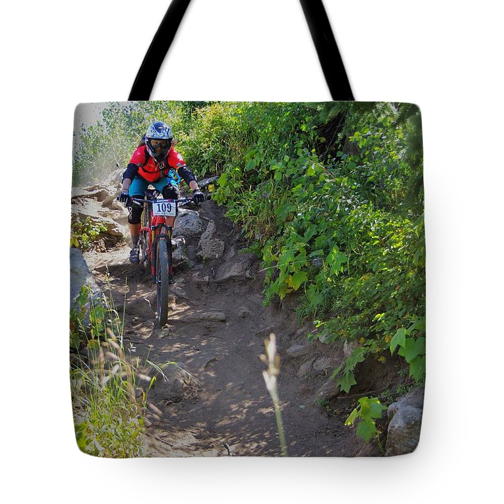 2015 Tote Bag featuring the photograph Rawhide Drop #109 by Matt Helm