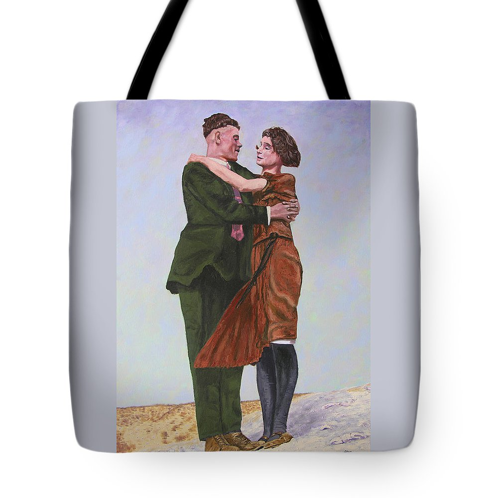 Double Portrait Tote Bag featuring the painting Ray And Isabel by Stan Hamilton