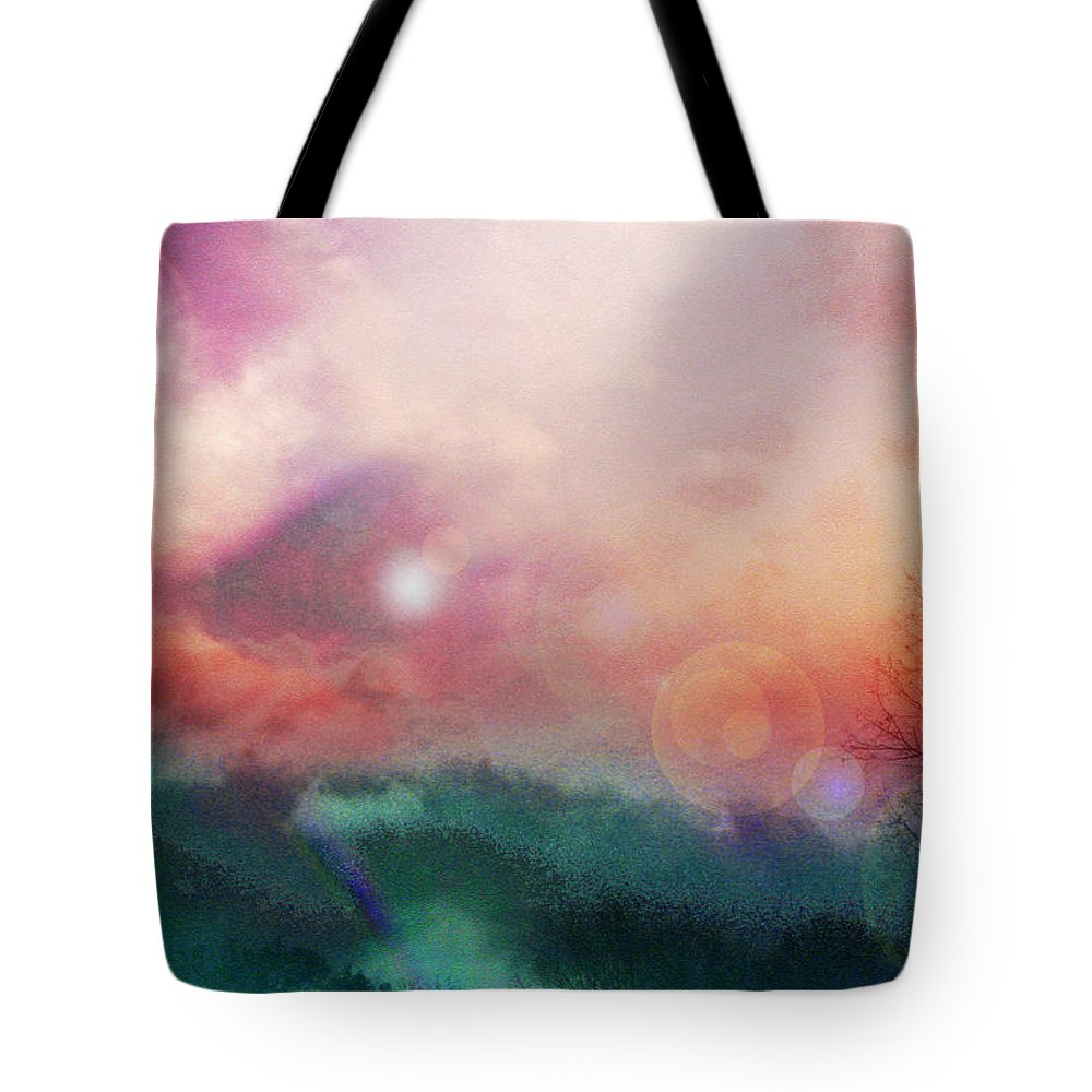 Nature Tote Bag featuring the digital art Ray Of Hope by Linda Sannuti