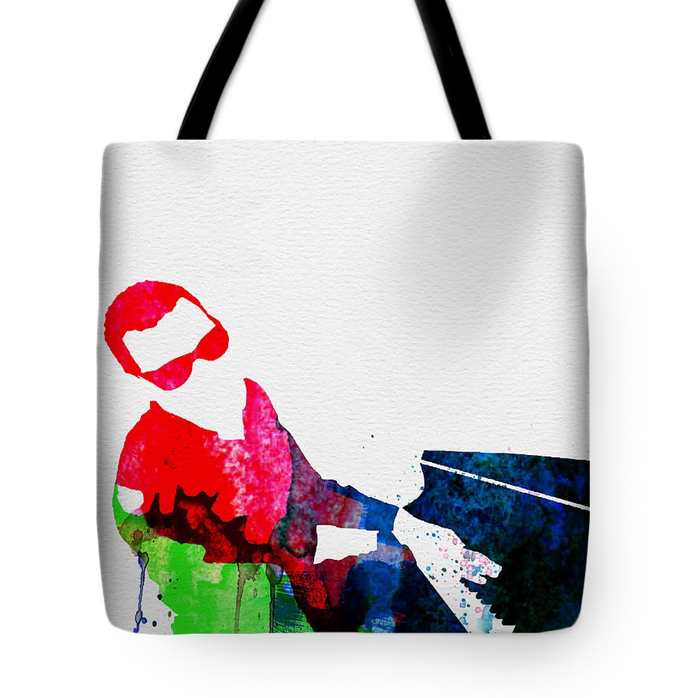 Ray Charles Tote Bag featuring the painting Ray Watercolor by Naxart Studio