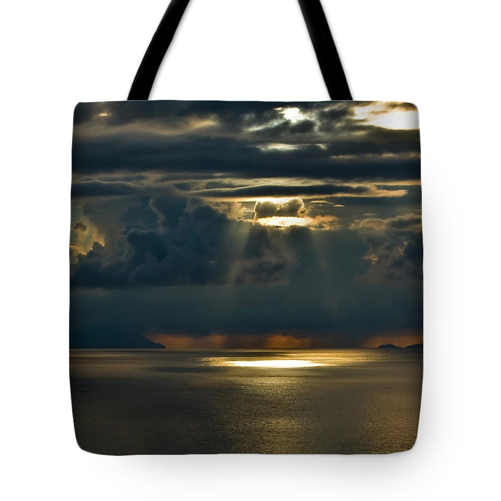 Clouds Tote Bag featuring the photograph Rays Of God by Max Steinwald
