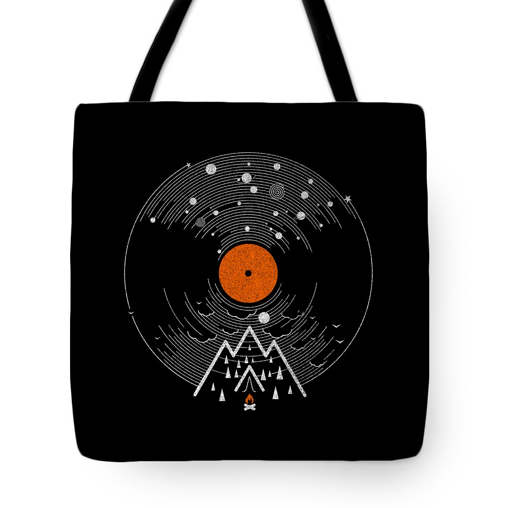 Record Tote Bag featuring the digital art Re/cordless by Mustafa Akgul