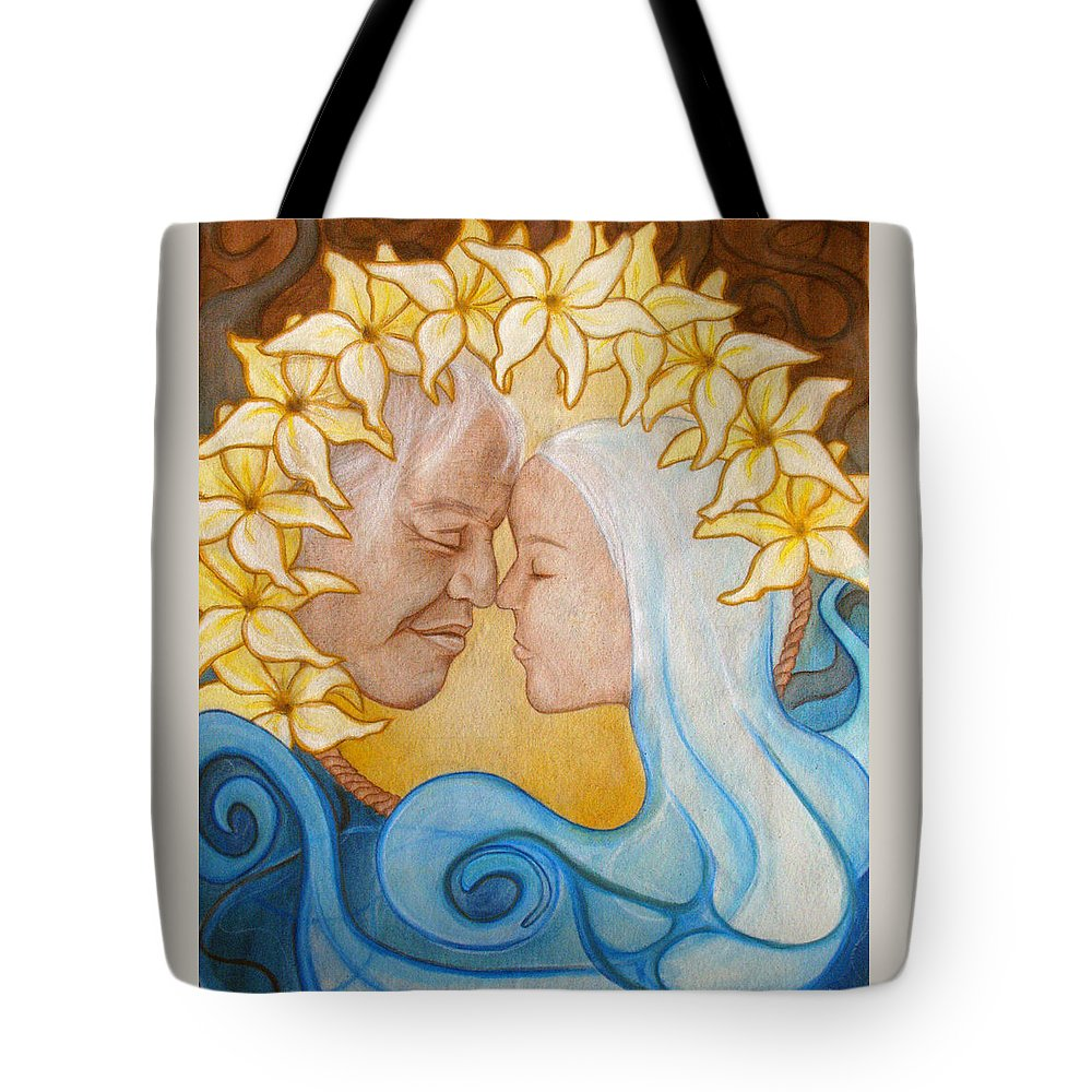 Kimberly Kirk Tote Bag featuring the painting Reach Into My Heart by Kimberly Kirk