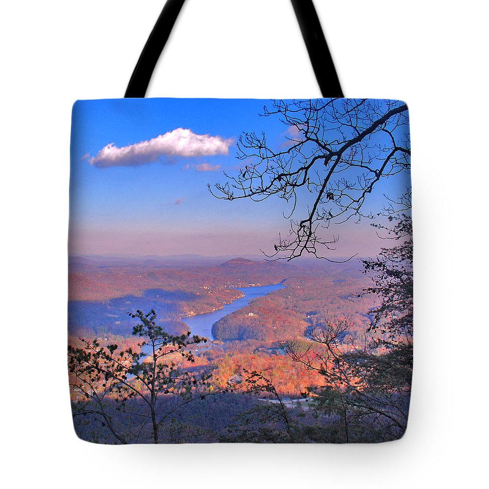 Landscape Tote Bag featuring the photograph Reaching For A Cloud by Steve Karol