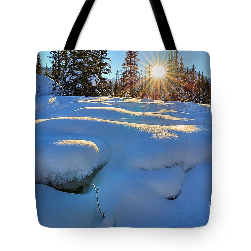 Bow River Tote Bag featuring the photograph Reaching For Heat by James Anderson