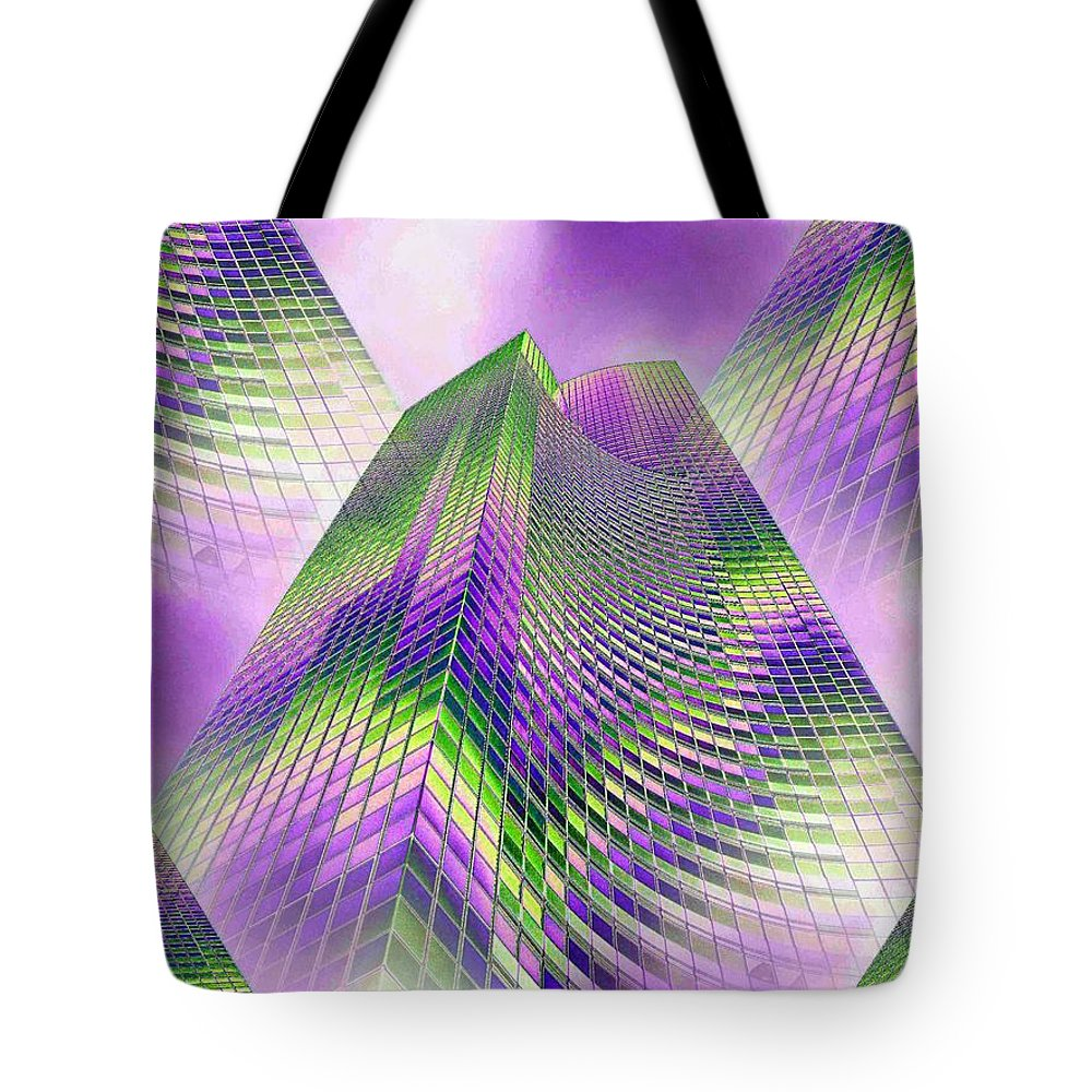 Seattle Tote Bag featuring the photograph Reaching Skyward by Tim Allen
