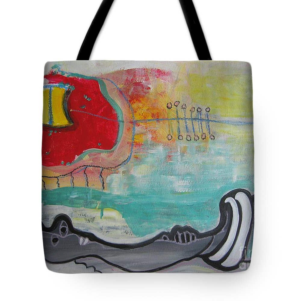 Red Paintings Tote Bag featuring the painting Read My Mind1 by Seon-Jeong Kim