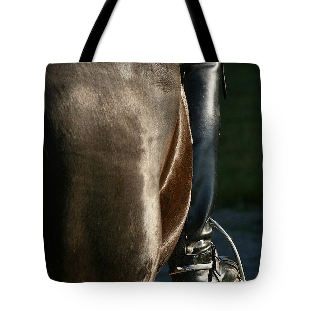 Spurs Tote Bag featuring the photograph Ready by Angela Rath