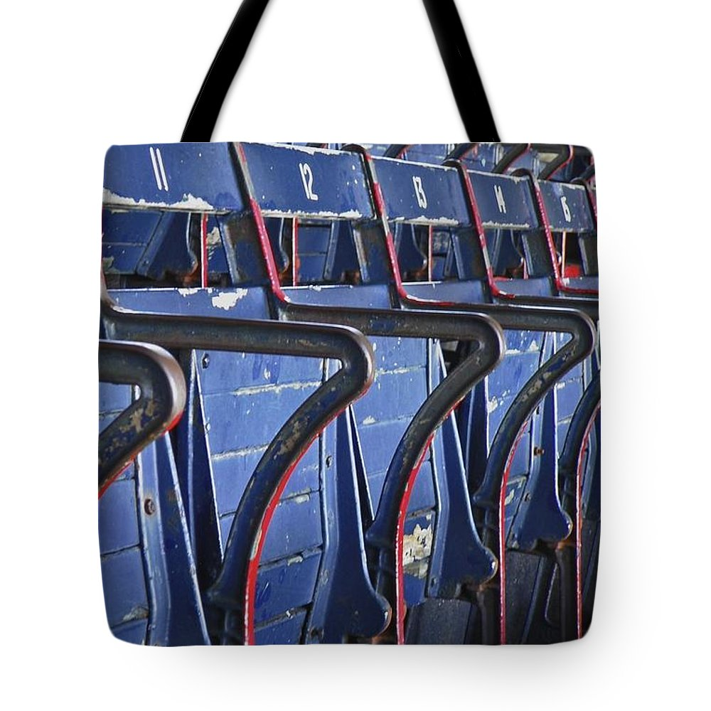 Boston Tote Bag featuring the photograph Ready For Red Sox by Donna Shahan