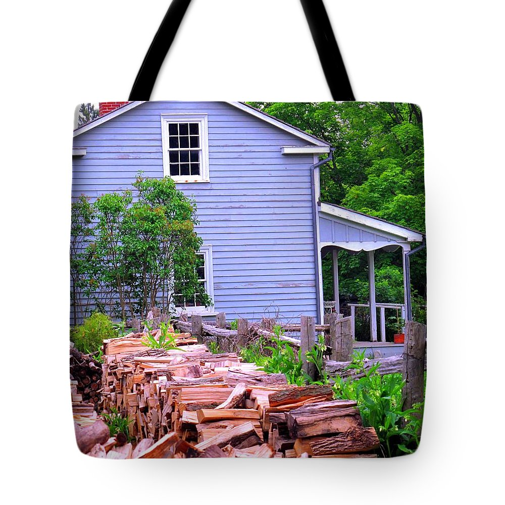 Pioneer Tote Bag featuring the photograph Ready For Winter by Ian MacDonald