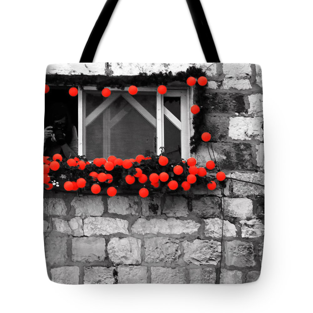 Greeting Tote Bag featuring the photograph Ready For Your Close- Up by Munir Alawi