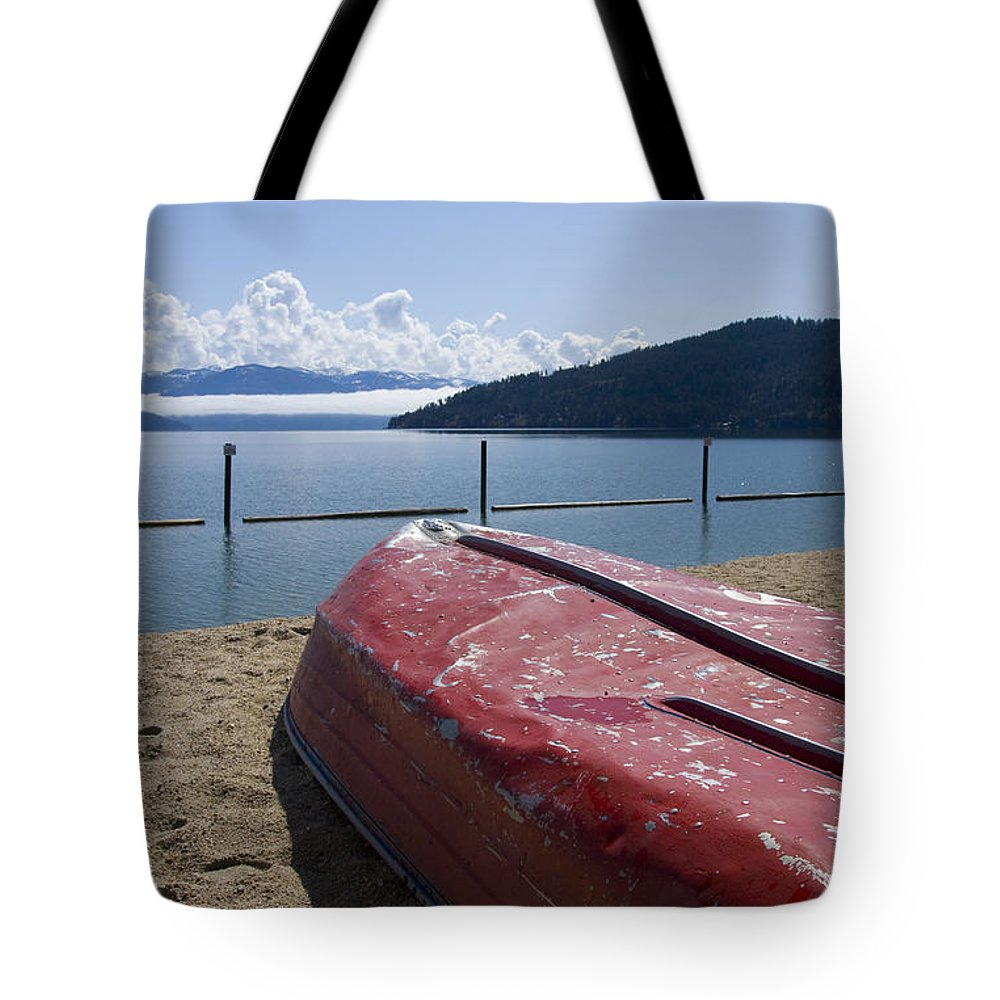 Boat Tote Bag featuring the photograph Ready In Red by Idaho Scenic Images Linda Lantzy