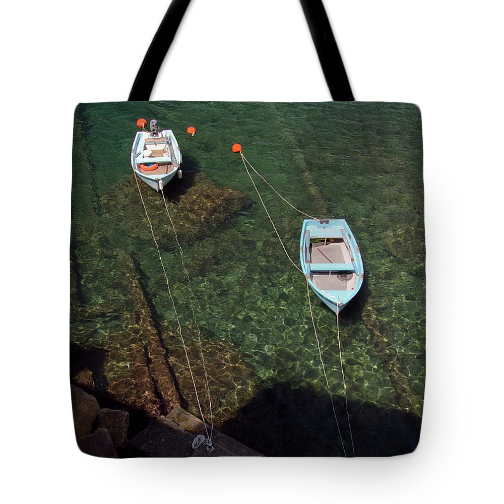 Boats Tote Bag featuring the photograph Ready by Roger Mullenhour