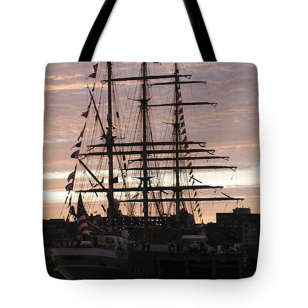 Eagle Tote Bag featuring the photograph R'eagle Sunset by Faith Harron Boudreau